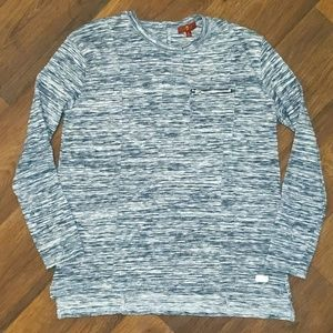 7 for all mankind gray marble high low long sleeve